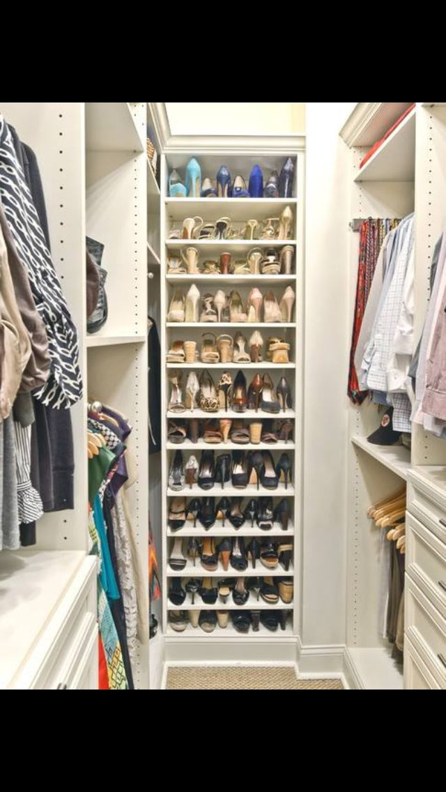 19 best small walk in closet ideas images on pinterest for Walk in shoe closet