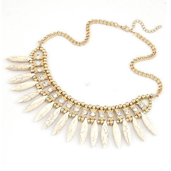 Fashion Women Crystal Pendant Chain Choker Chunky Statement Bib Necklace BOHO #Unbranded