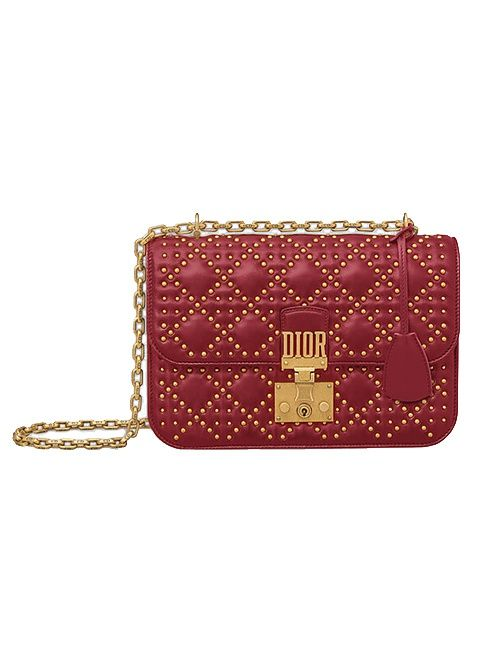 304cdefdcd9f Dior Addict - Flap Bag in Red Studded Cannage Lambskin