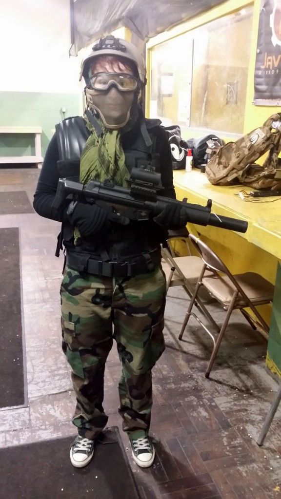 Airsoft Girl. Airsoft for girls, from a girl. Almost everything I wore for my first CQB exerience was Matt's. So a lot of it didn't fit quite right, but it did the job. airsoft girls - airsoftgirl.net #airsoft #girl #girls #women #woman #tactical #military #guns #tacticalgear #gear #loadout #airsoftgirl