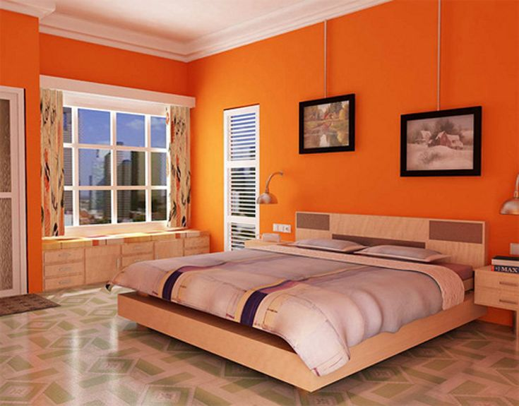 Room Decor U2013 Colors That Add Life To Your Room | Orange Bedrooms, Orange  Walls And Wall Colors