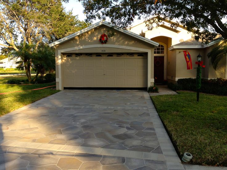 Painted Driveways The Villages Florida Concrete Designs