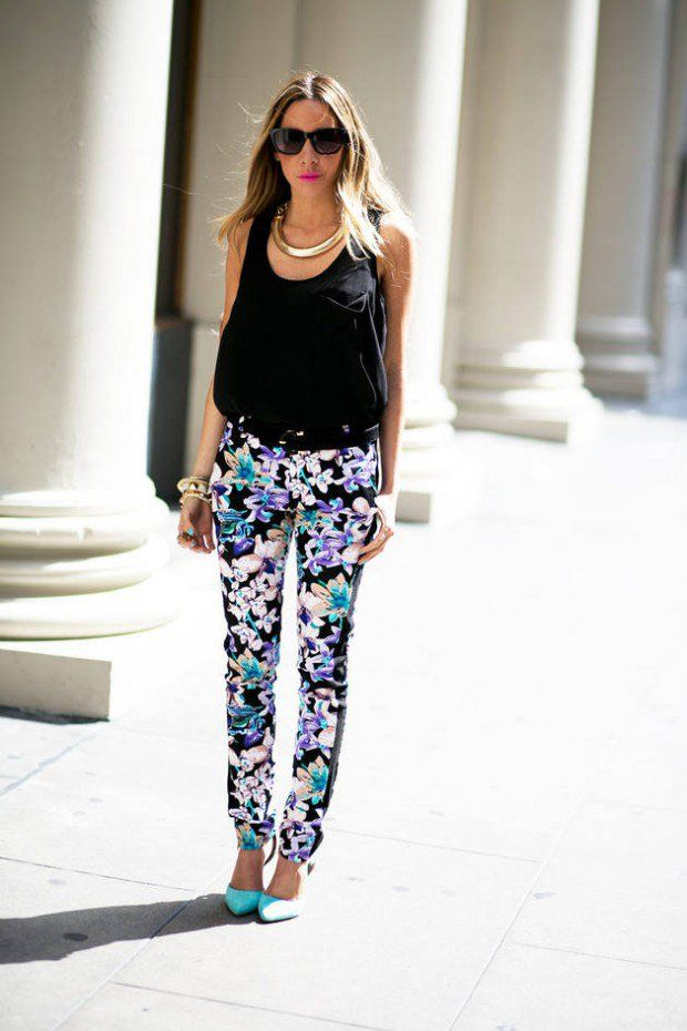 How To Wear Floral Pants: 17 Outfit Ideas | Women Work Outfits