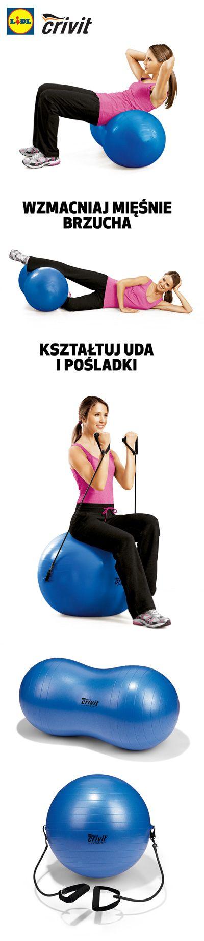 Mimo, że wygląda jak zabawka, wyrzeźbi Twoje mięśnie doskonale! #pilka #gimnastyczna #fitness #cwiczenia #trening