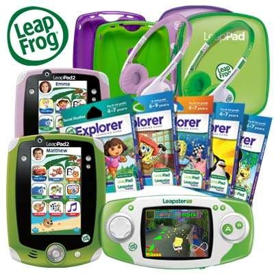 WIN THIS: A LeapPad2 Bundle! TWO LeapPad2's, a Leapster GS, headphones, carrying cases  & five game cartridges! A $500 value! Sweeps ends Dec 31st.