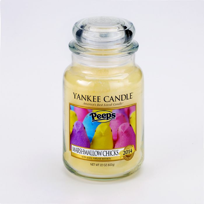 Peeps Marshmallow Chicks Yankee Candle New for 2014 - OMG OMG OMG I have to have this!!! #peeps #easter