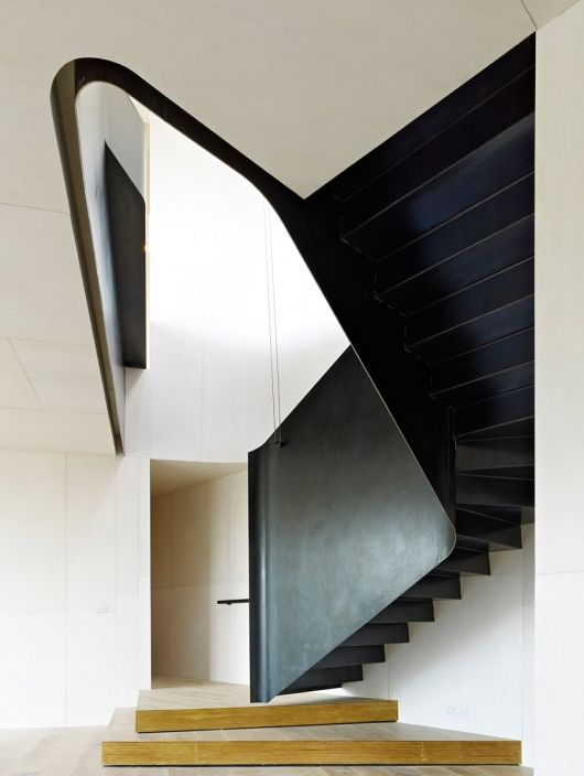 Hill House, Kent (private house) by Hampson Williams ArchitectsSpaces, Hills House, Interiors, Williams Architects, Architecture, Hampson Williams, Staircas, Stairs Design, Black