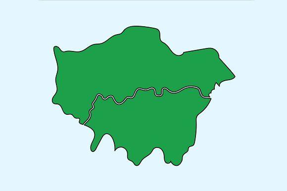 illustration of London map by charnsitr on @creativemarket