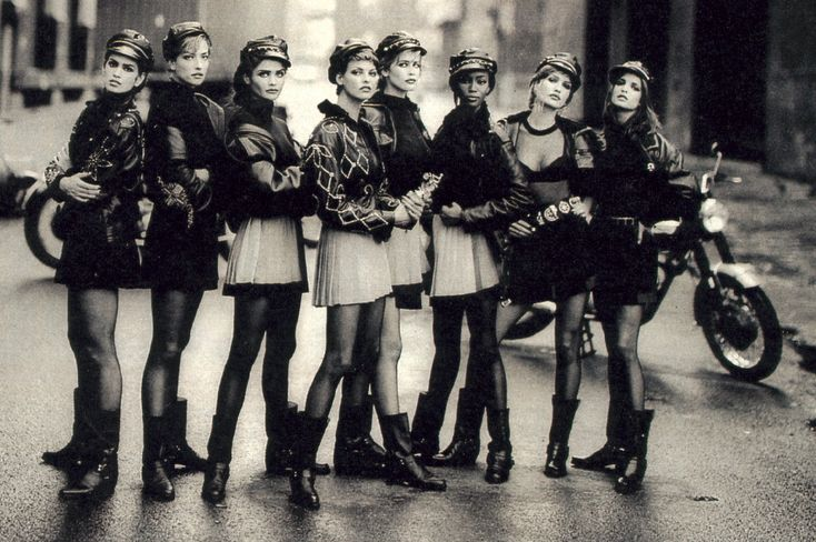American Vogue, September 1991. Photographed by Peter Lindbergh.