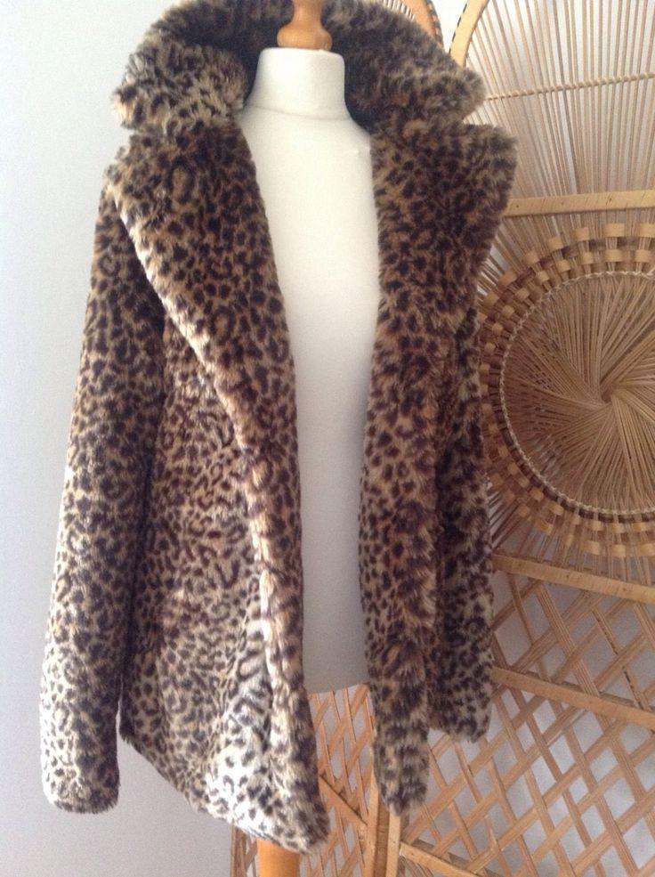 Plush Silky Soft Luxurious Faux Fur Leopard Animal Print Coat Jacket UK 10-12 | Vêtements, accessoires, Femmes: vêtements, Manteaux, vestes | eBay!