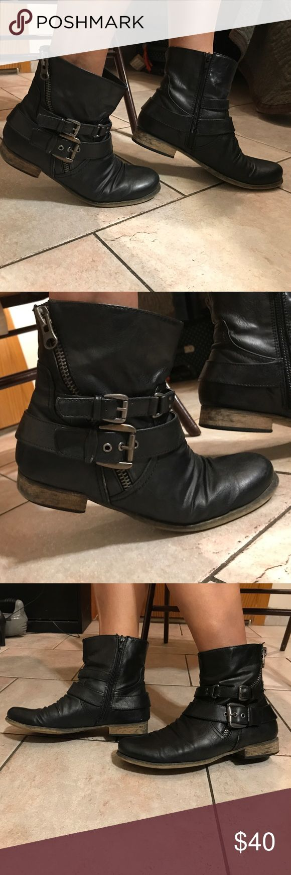 Carlos Santana Boots Good condition. Heels a little worn. Carlos Santana Shoes Ankle Boots & Booties