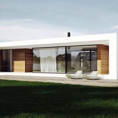 Casa en una sola planta organiada en torno a un patio273 for Casa minimalista una sola planta