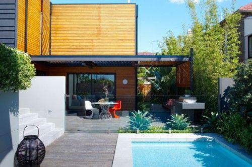 backyard landscape tropical garden design idea
