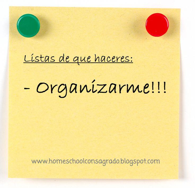 Homeschool Consagrado al Señor: Mama Organizada - Es Posible??