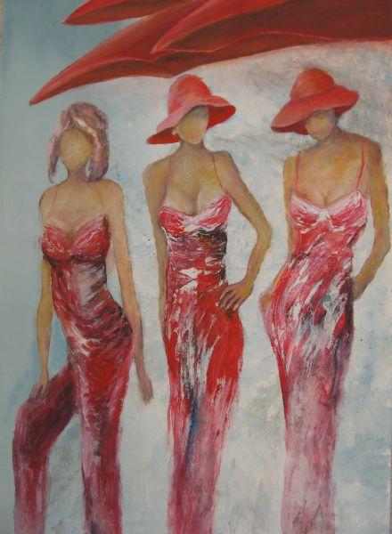 kaarten met dames met hoeden om te schilderen - Google zoeken
