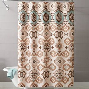 Seafoam Green Brown Tan Southwestern Aztec Fabric Shower Curtain Visit The Image Link More Details