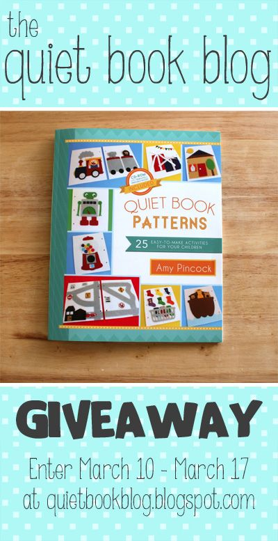 "The Quiet Book Blog: ""Quiet Book Patterns"" Book Review & Giveaway!"