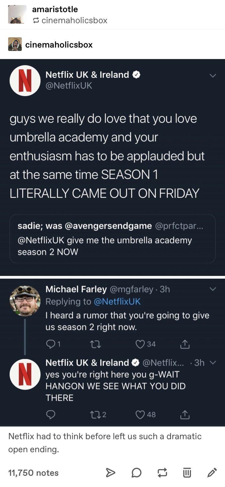Netflix Should Have Given Us Umbrella Academy Season 2 Yellow Umbrella Academy Tumblr School