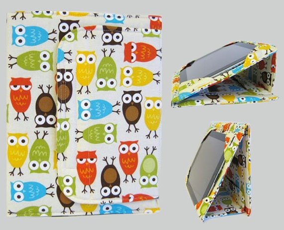 iPad Cover Hardcover iPad Case Cover Custom iPad iPad 2 iPad 3 Cover Owls