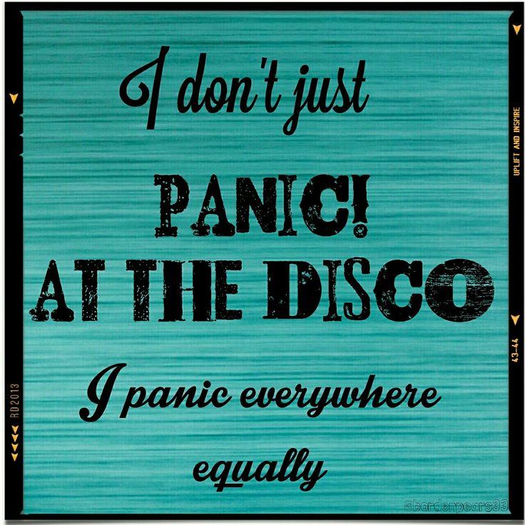 Panic at the Disco anxiety/panic/meme