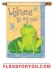 Toadally Welcome House Flag - 1 left