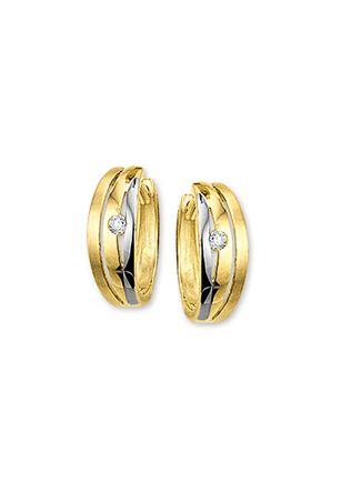 Gouden sieraden | Juwelier de Bokx Wijffels | Gouden oorbellen  €349 | Geel en wit gouden oorbellen breedte 5mm diameter 14mm  #goudenoorbellen #goud #oorbellen #creolen #juwelierdebokxwijffels #juwelier