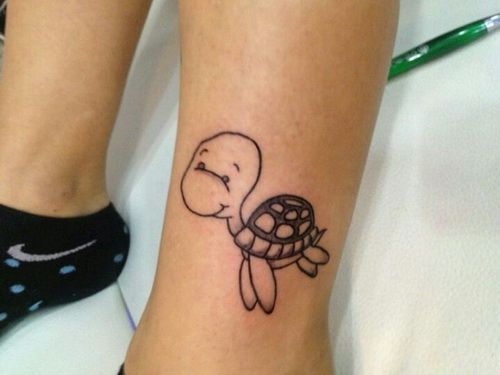 Cute Turtle Tattoo Designs For Girls