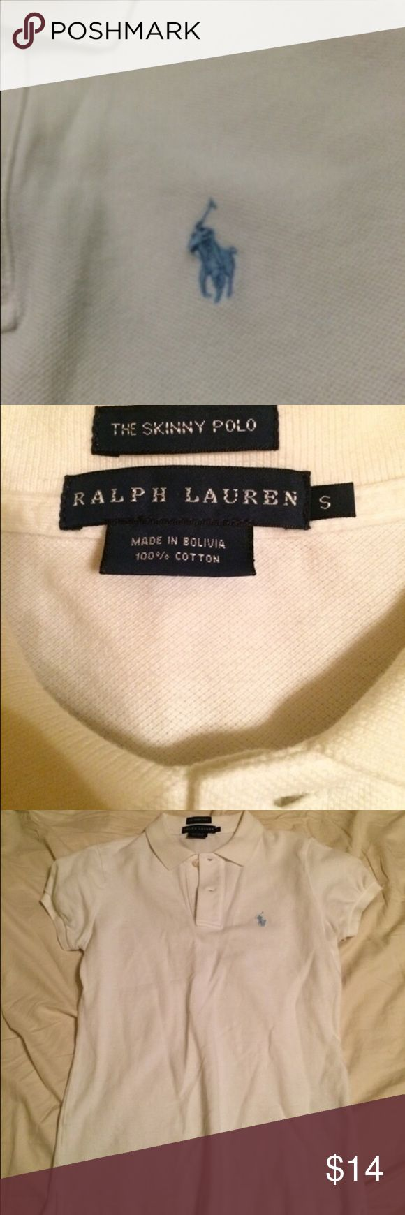 White Polo Ralph Lauren 2 button. Skinny fit. Polo by Ralph Lauren.  #polo #ralphlauren #summer #poloshirt Polo by Ralph Lauren Tops