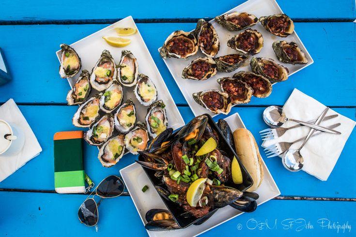 Our seafood feast at Freycinet Marine Farm