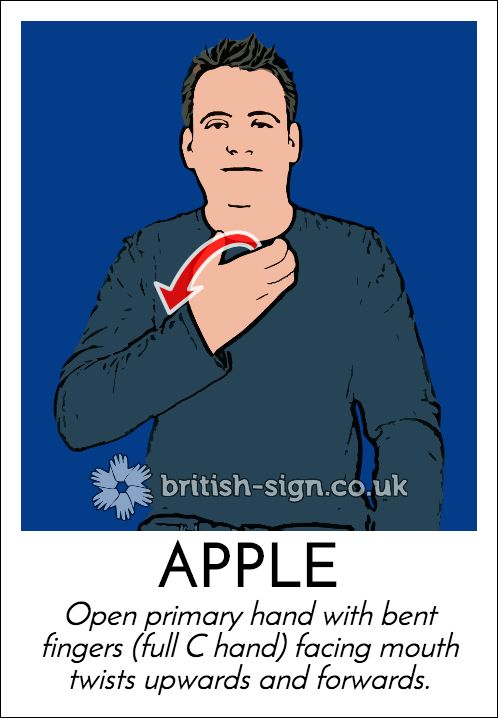 Today's #BritishSignLanguage sign is: APPLE #EatARedAppleDay