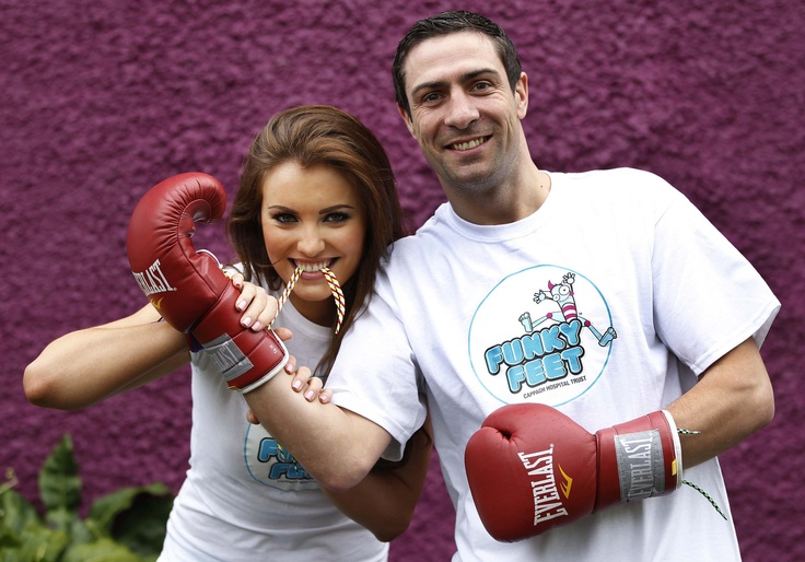 Miss Ireland Holly Carpenter and Olympic Boxing Silver Medalist Kenny Egan, supporting the Funky Feet Friday campaign today in aid of Cappagh Hospital Trust – log onto www.funkyfeet.ie for more information or to register your club, school or business.