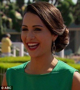 She's glowing! The eligible bachelorette looked in her element as she got all gussied up in a gorgeous green dress and with a full face of make-up and her hair nicely styled