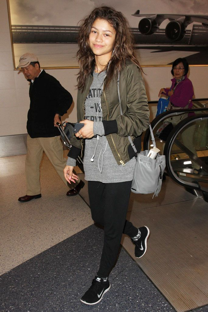 These Celebs Will Make You Want to Try Airport Athleisure - Zendaya from InStyle.com