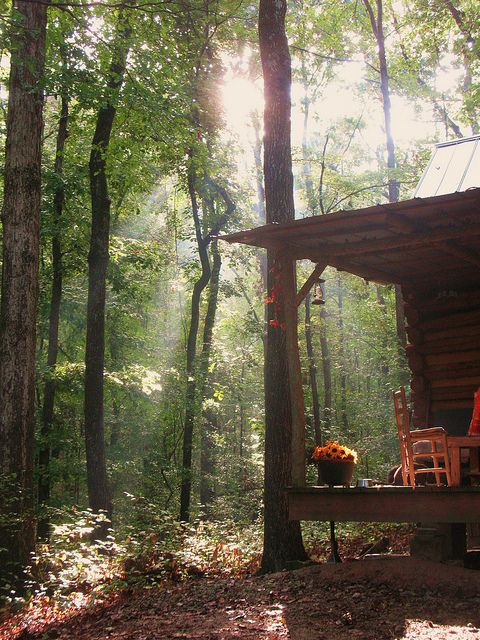 fall morn at the cabin by thecabinpath, via Flickr