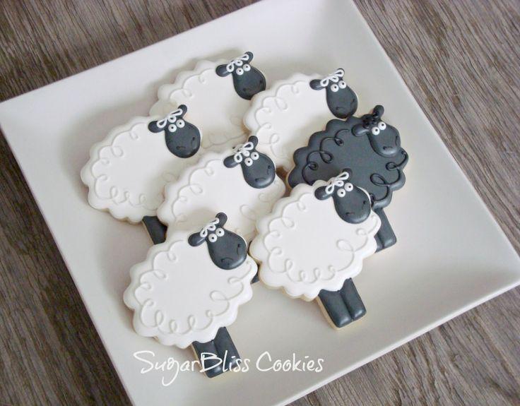Sheep sugar cookies