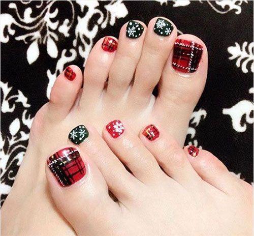 christmas toe colors