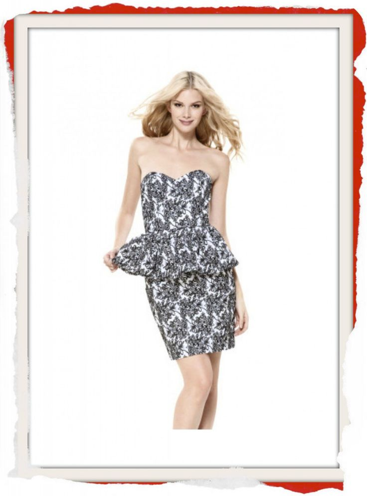 Classic Betsey Johnson embroidered cotton peplum formal dress with sweetheart neckline $200 info@fashionjazz.com.au