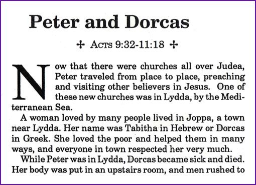 peter heals dorcas and preaches to the gentiles later cornelius invites peter to be a guest at his house peter sees a vision that convinces him to go to