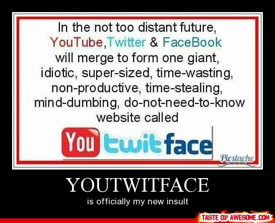 Youtwitface - Other - Aug 23, 2012 - Taste Of Awesome: Social Network, Quote, Youtwitfac, Social Media, Twit Faces, Fun Stuff, Funnies Things, Socialmedia, Funnies Stuff