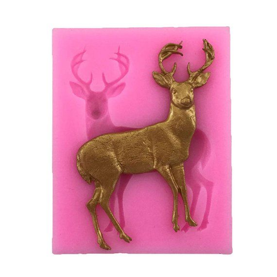 Elk Deer Mold Fondant Mold Cake Decorating Tools Chocolate Bakeware Silicone one