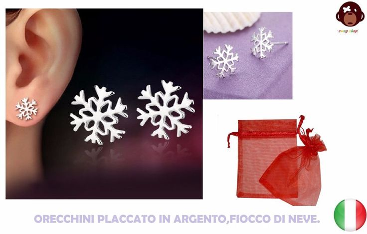 orecchini fiocco di neve,silver plated,+sacchetto,Snowflake,Sterling 925 silver. https://www.ebay.it/itm/162743742223?ssPageName=STRK:MESELX:IT&_trksid=p3984.m1558.l2649#viTabs_0 orecchini fiocco di neve,silver plated,+sacchetto,Snowflake,Sterling 925 silver.#idearegalo #natale2017 #orecchini #fioccodineve #outfit #silver #kawaii #silverplated #swagshop1 #argento #Snowflake #gfvip #bff #regalo #chic
