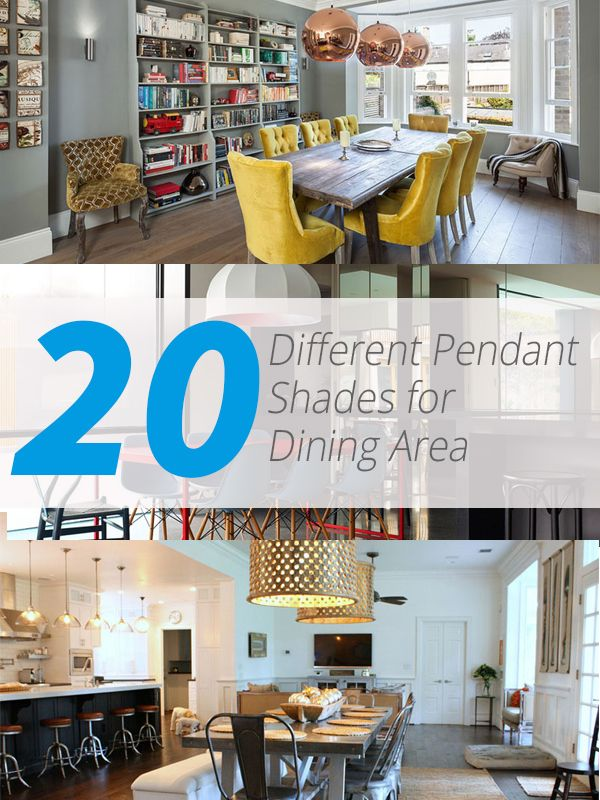20 different pendant shades for an awesome dining area for Decorative items for dining room