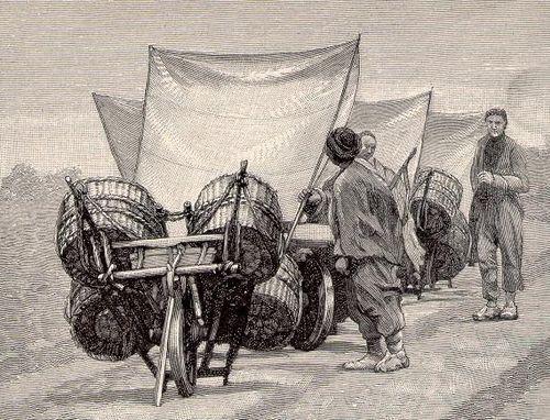 Wind powered wheelbarrow - talicska tortenet