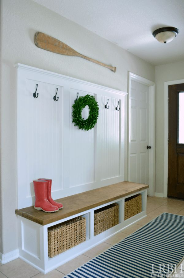 great mudroom -simple, rustic and modern