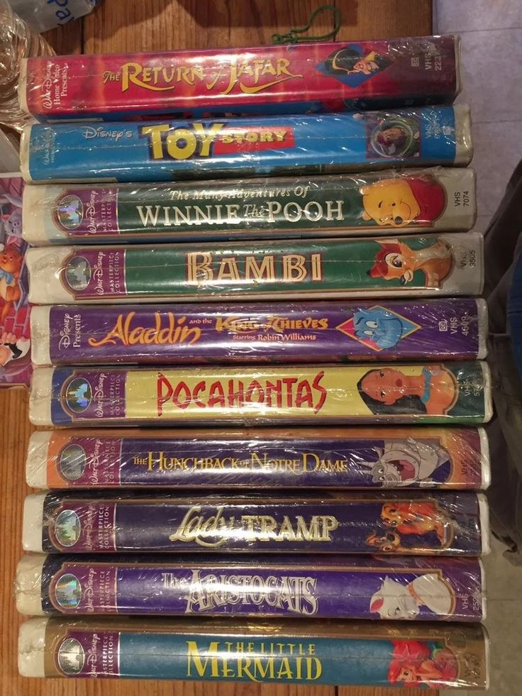 Sealed Lot 10 Disney VHS Tapes, New in package.