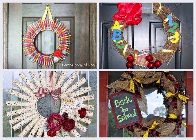 Back to School Wreaths, Back to School Decor, Ruler Wreath, Crayon Wreath #keithwatsonevents