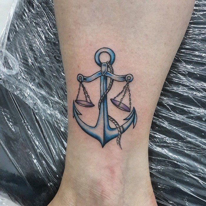 75 Aussergewohnliche Waage Tattoo Designs 4