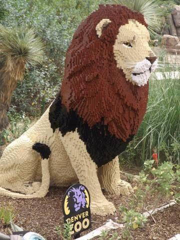 Leo the Lego Lion, on Display at the Denver Zoo through November 1, 2015.