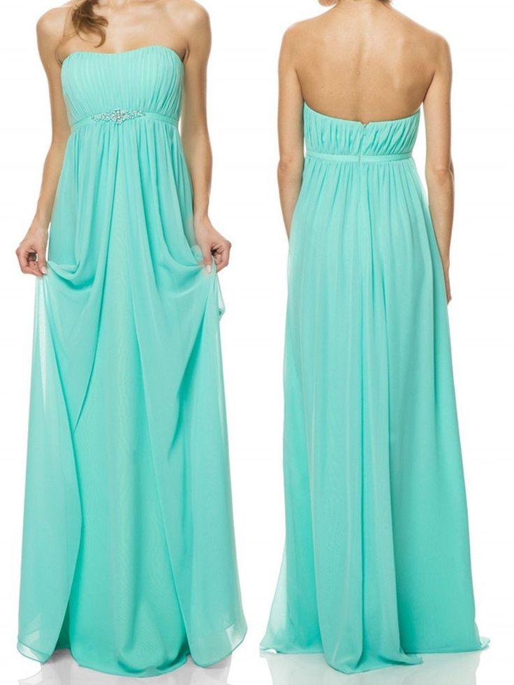 long bridesmaid dress,blue bridesmaid dress,chiffon bridesmaid dress,maternity bridesmaid dresses,BD838