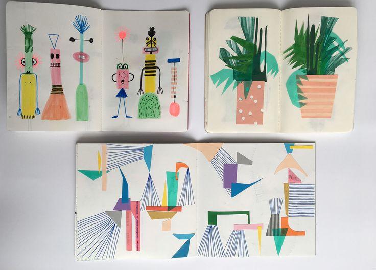 #sketchbook #papercut ##characters #plants #geometric #shapes #graphic #illustration